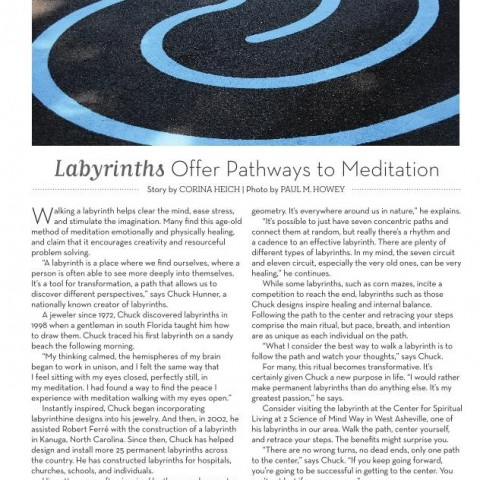 Labyrinths Offer Pathways to Meditation